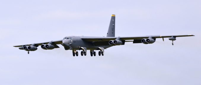 A Boeing B-52H approaching RAF Fairford (Image: The Aviation Media Co.)