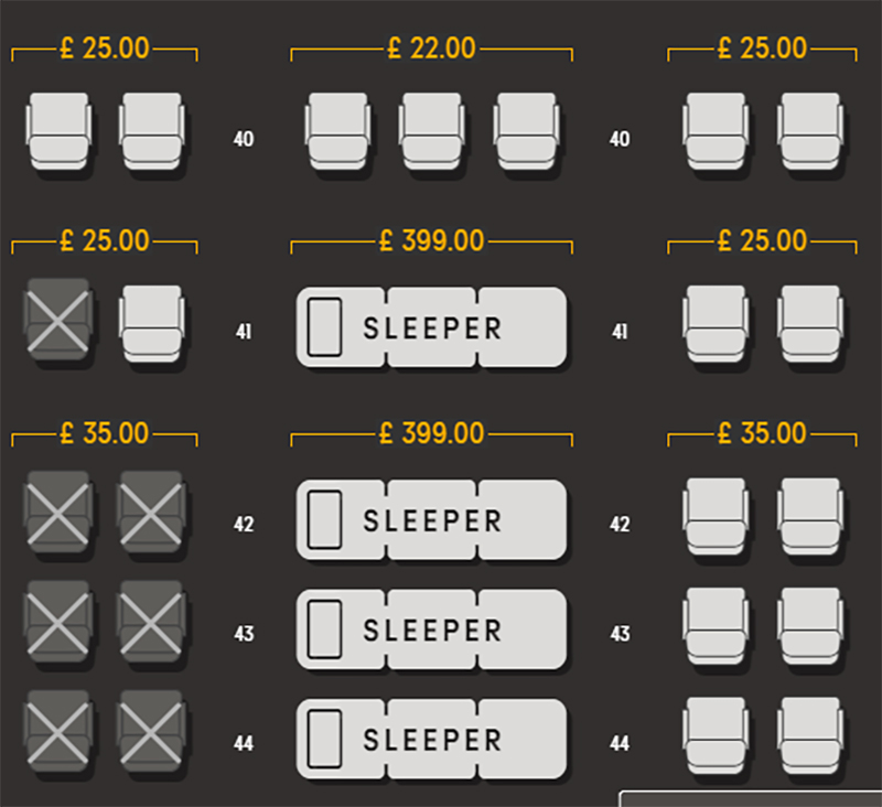 Thomas Cook Sleeper Seat: Comfort at a price.