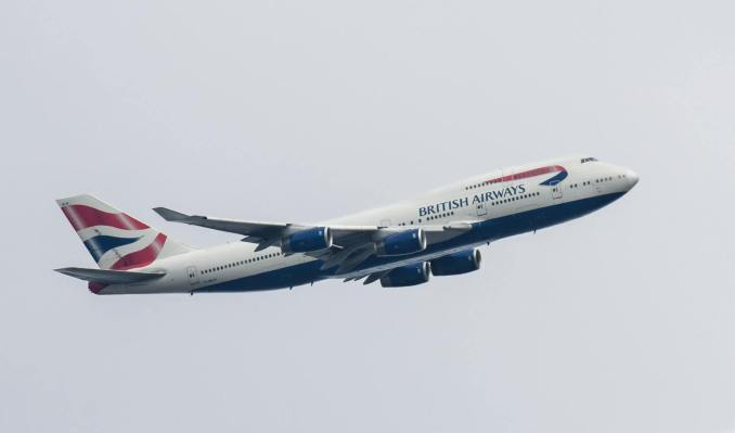 British Airways Boeing 747-436 arriving into St Athan G-BNLN Image: (Peter Howlett)