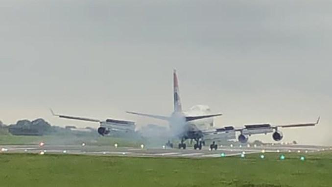 G-BNLN Touching down at St Athan (Image: Jess Wilde)