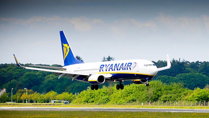 Ryanair is the only airline using Glasgow Prestwick Airport