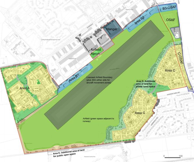 Old Sarum Masterplan from Planning Application