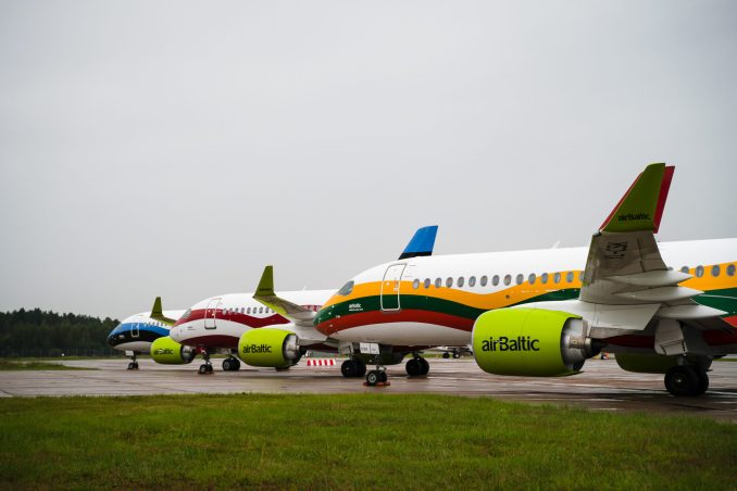 The new liveries of AirBaltic