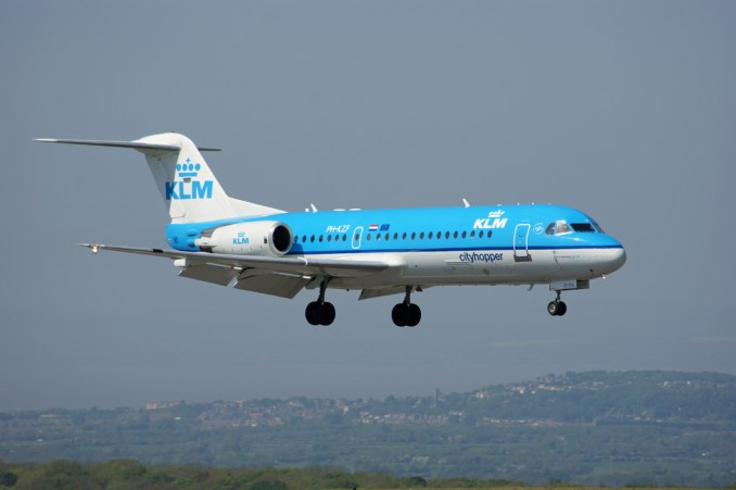 A KLM Cityhopper F70 on approach to Bristol Airport (Image: Aviation Media Agency)