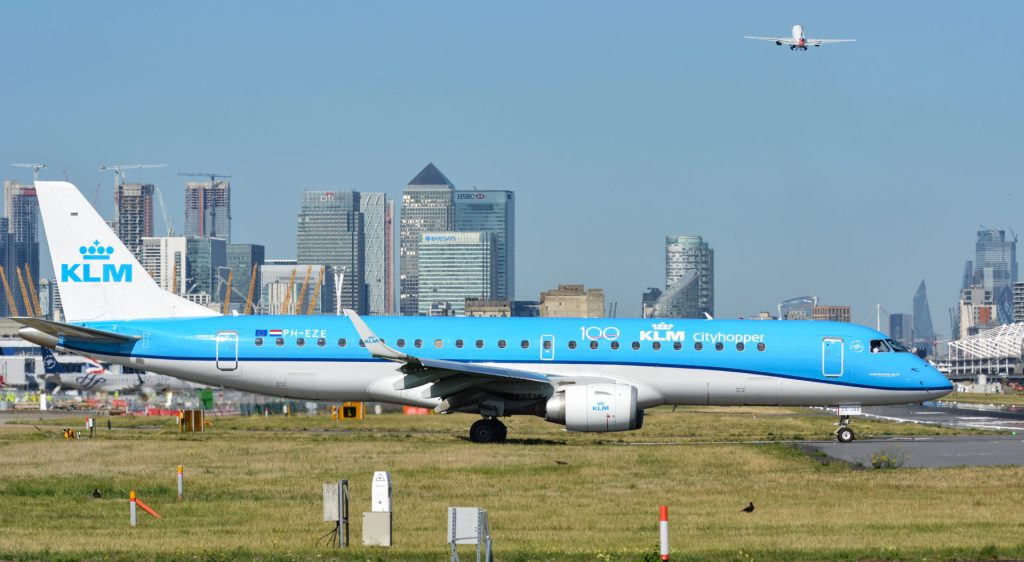 A KLM Embraer at London City Airport (Image: Aviation Media Agency)