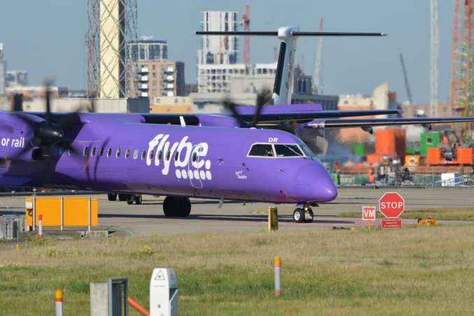 Flybe Dash 8 at London City Airport (Image: Aviation Media Agency)