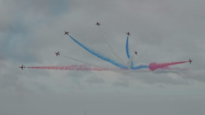 The Wales National Airshow held annually at Swansea Bay