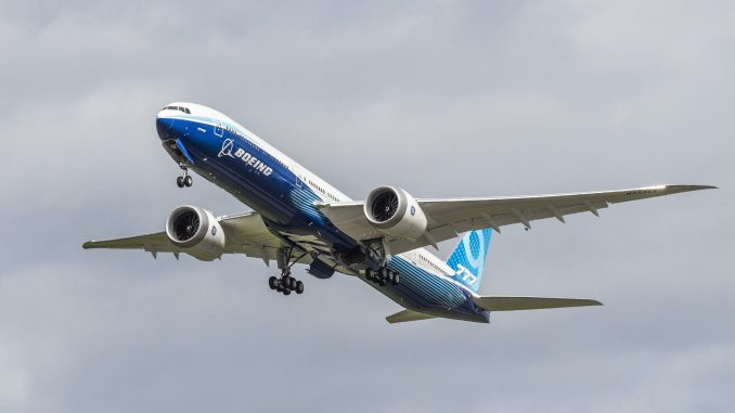 Boeing 777-9 WH002 (Image: Boeing)