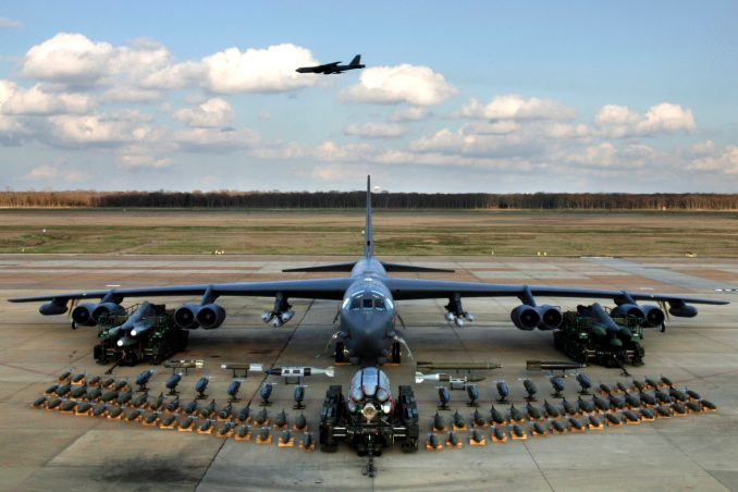 Munitions on display show the full capabilities of the B-52 Stratofortress. (U.S. Air Force photo)