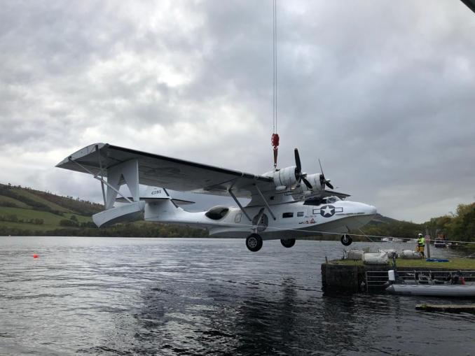 Miss Pick Up Lifted from Loch Ness (Image: Plane Sailing)