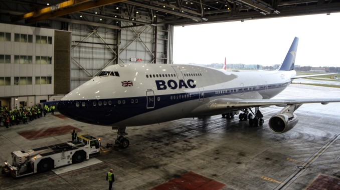 BOAC Liveried British Airways Boeing 747-400 G-BYGC, The last BA 747. (Image: TransportMedia UK)