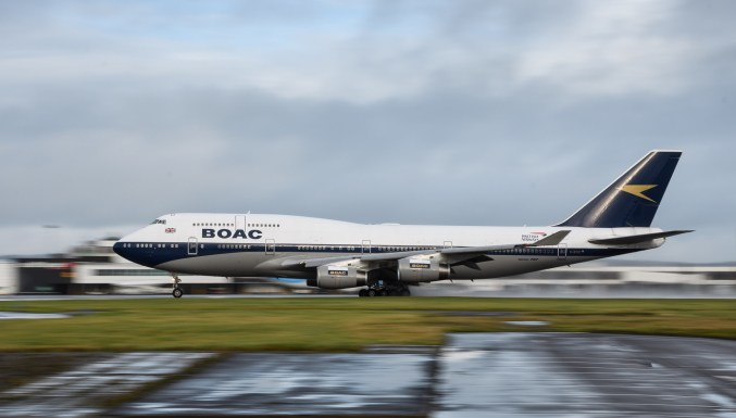 BOAC 747 Departing Cardiff Airport - Peter Howlett