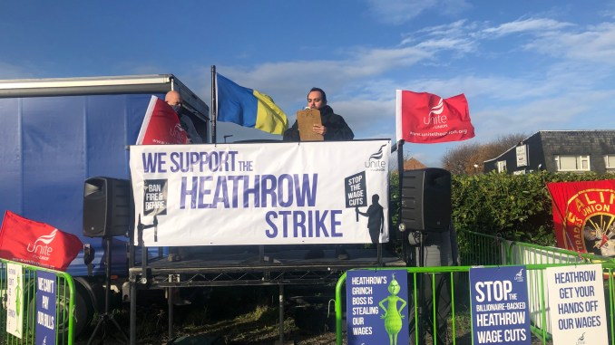 Heathrow Strike (Image: Unite/Twitter)