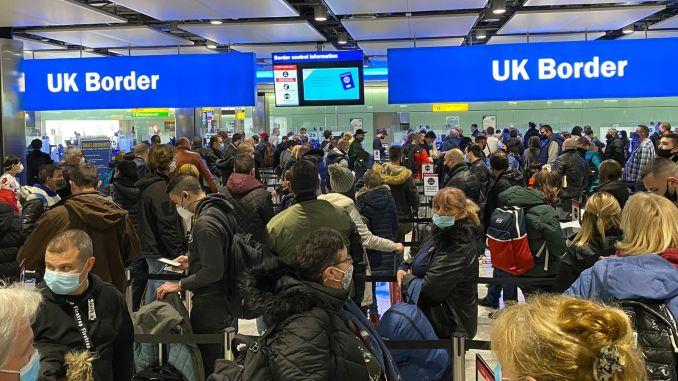 Heathrow Airport queues in Terminal 2 (Image Sir Peter Westmacott)