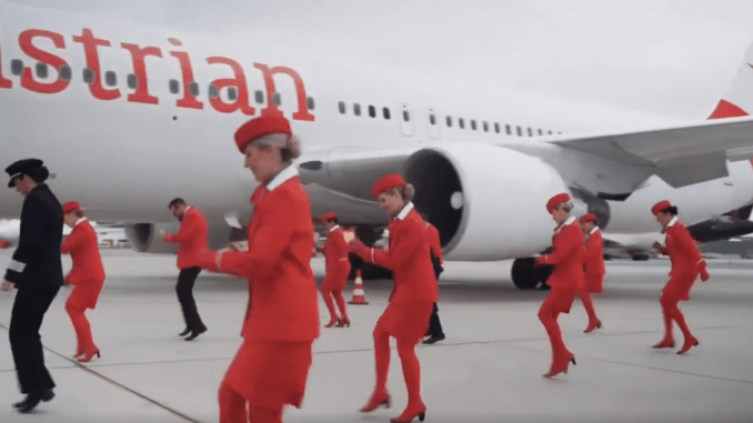 Austrian airlines take part in the Jerusalema challenge
