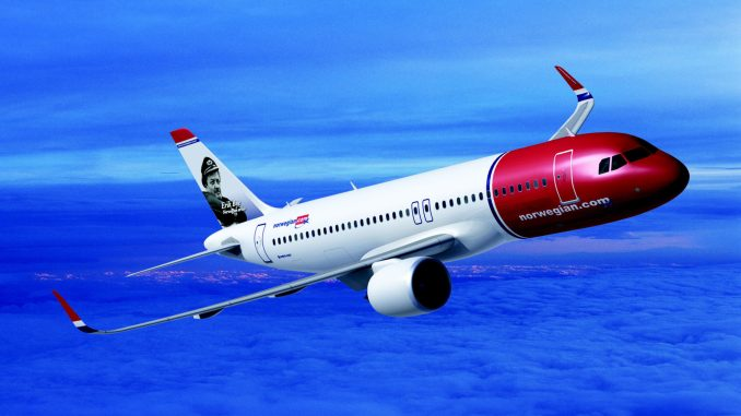 What the Norwegian A320neo would have looked like.