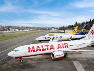RYR Fleet Ryanair, MaltaAir, Buzz parked at Ramp C, Renton Field
