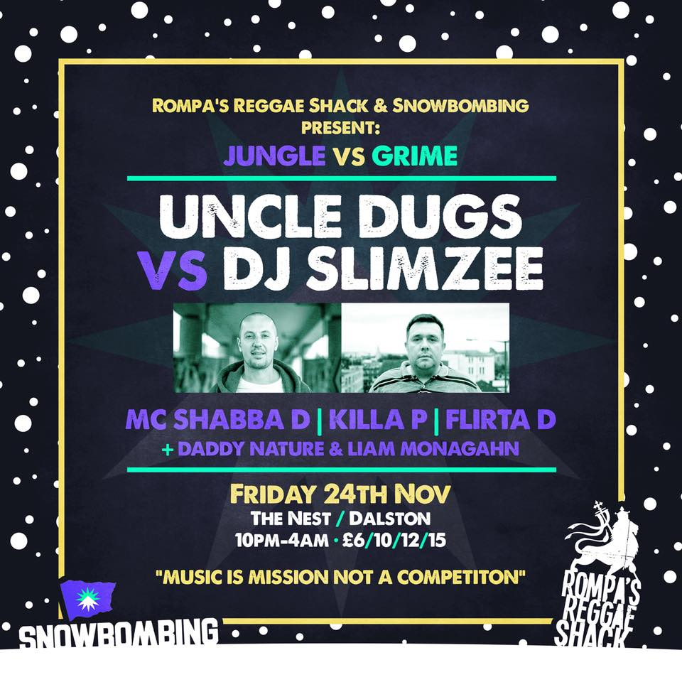 Rompa's Reggae Shack & Snowbombing present JUNGLE vs GRIME