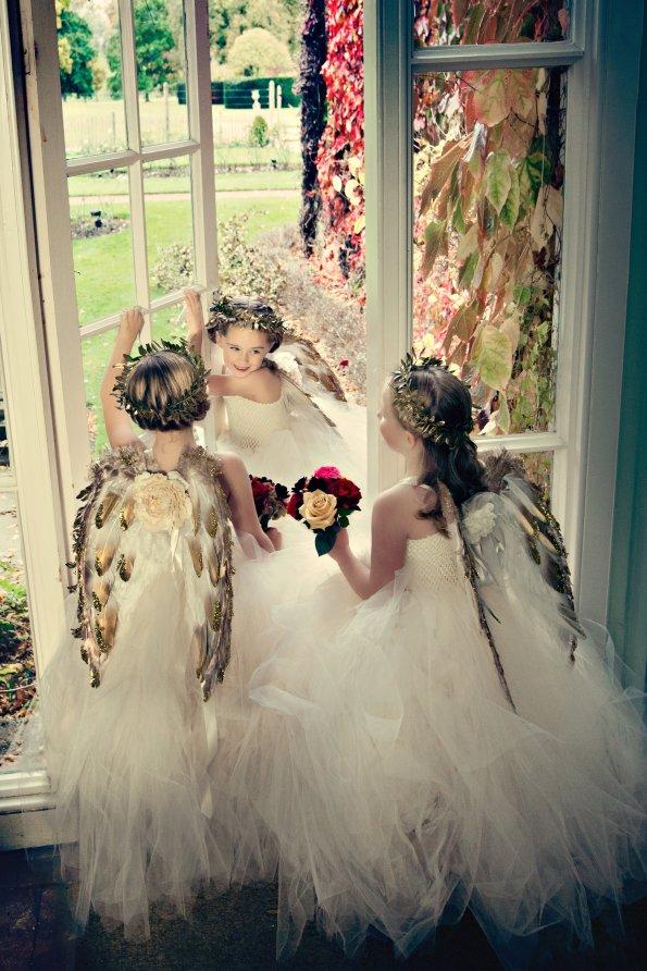 Adorable cherubs wearing Fabulous Tutu Dresses and handmade wings.