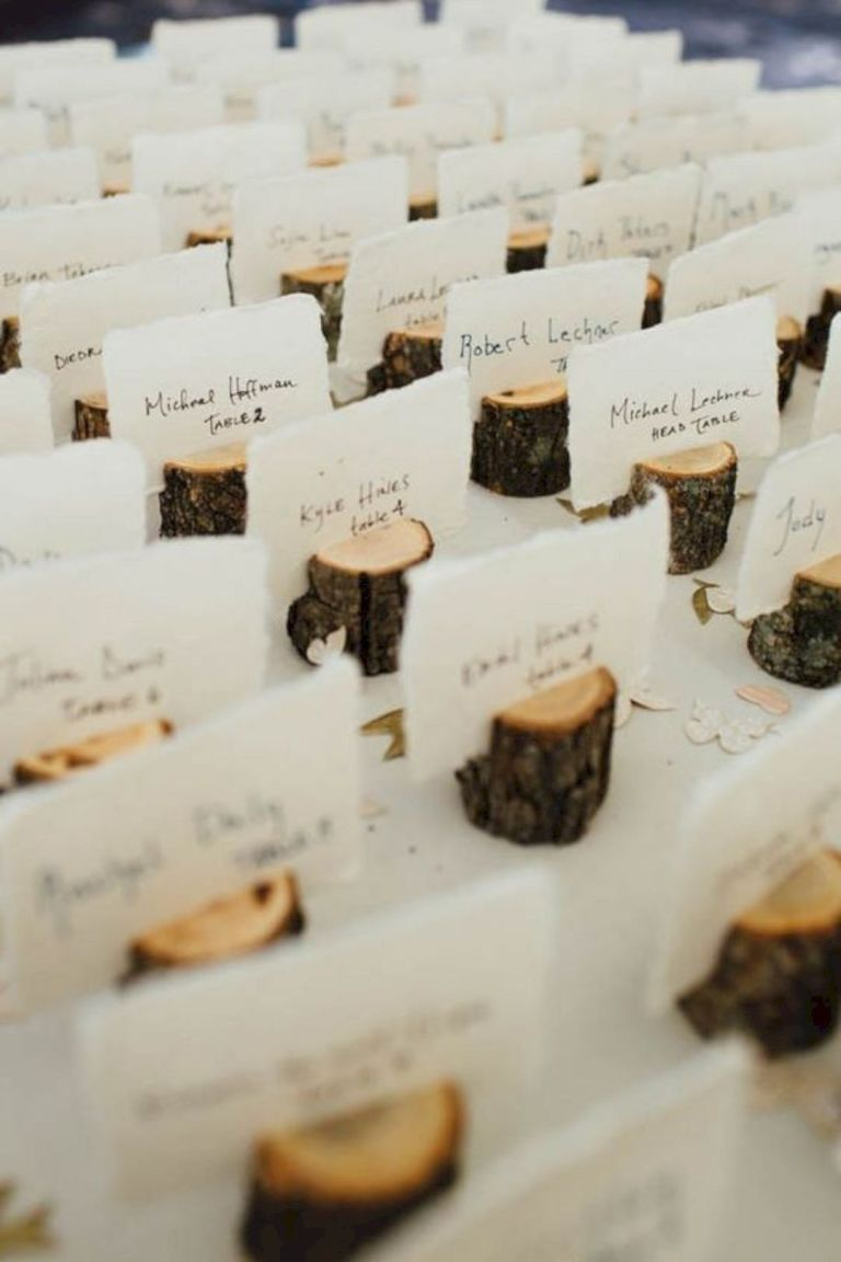 Rustic and Easy DIY Place Cards
