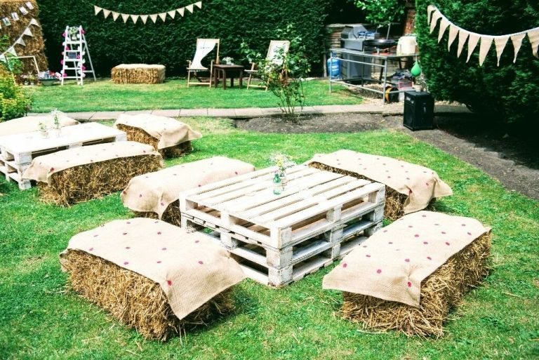 Hay Bale Seating Area.
