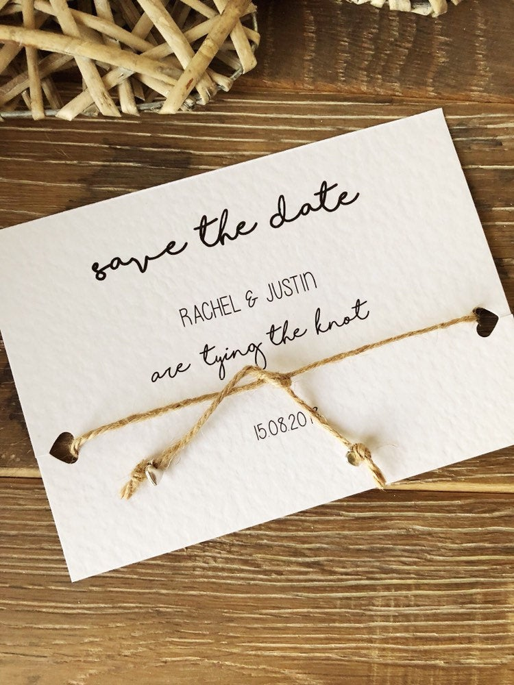 Tying the Knot Save the Date Idea