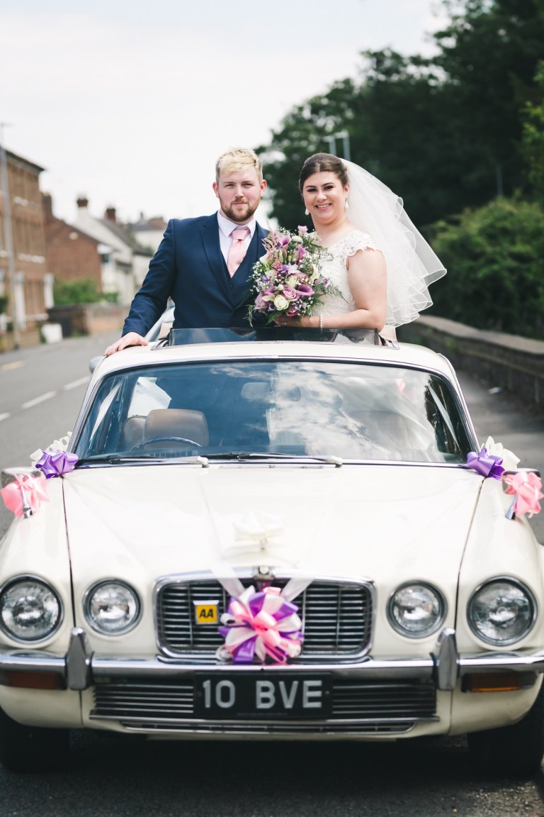 How lovely is this shot! We love the vintage car.