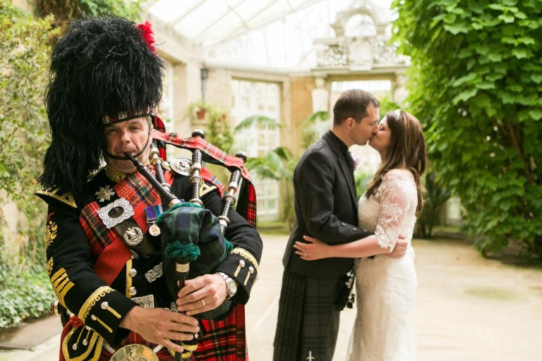 We love how the photographer staged this shot in the conservatory at Harlaxton Manor.