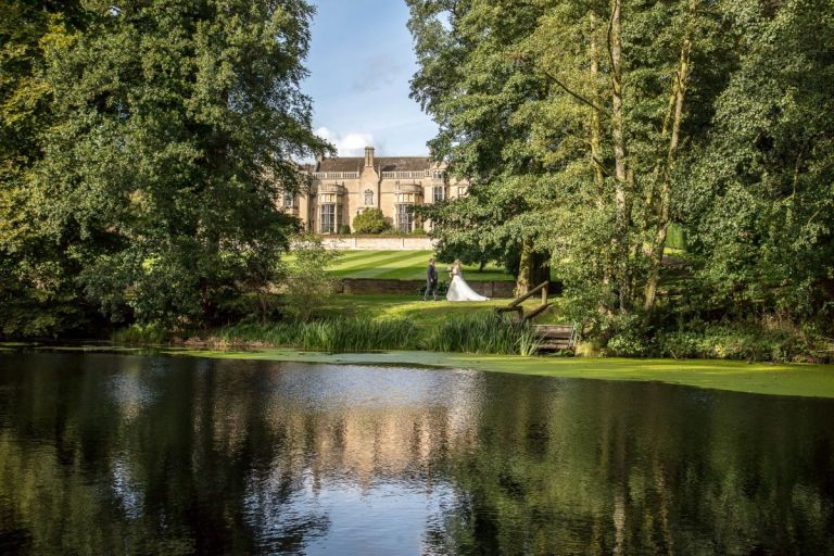 Mike Brown Photographic is responsible for this amazing shot of a couple at their stately home wedding.