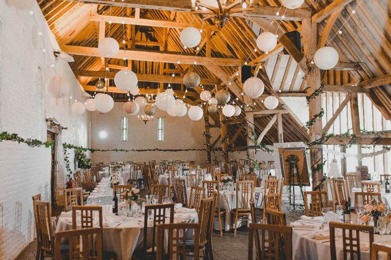This historic barn is so beautiful inside!