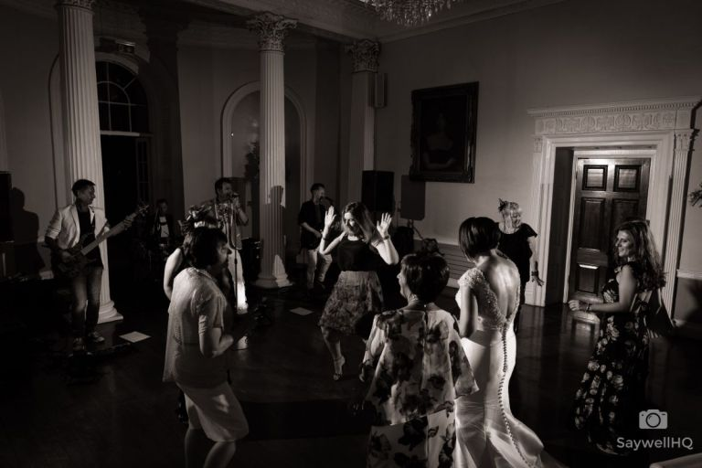 Dancing the night away! We love this black and white shot.