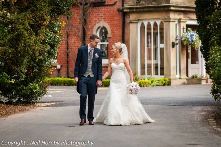Becky and Gareth married at Bartle Hall in Preston.