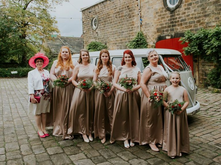 We think the bridesmaids dresses look really unique and very beautiful!
