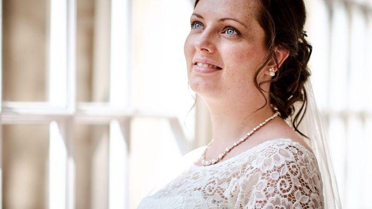 The beautiful blue eyed bride!