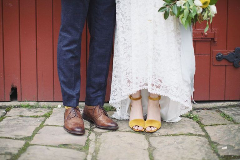 There was a yellow theme throughout right down to the shoes!
