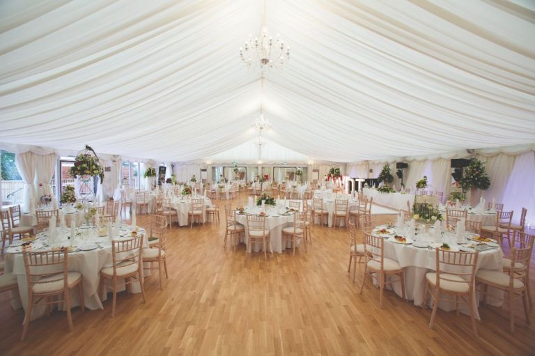 This venue has a mix of contemporary and traditional wedding settings.