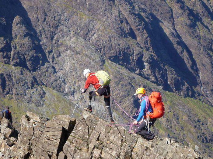 Jamie Andrew: Quadruple amputee on the Cuillin Ridge, 188 kb