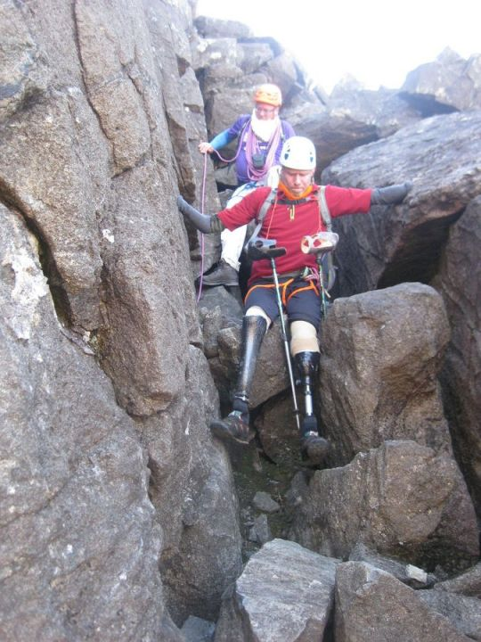 Jamie descending on a section of the Cuillin Traverse, 148 kb