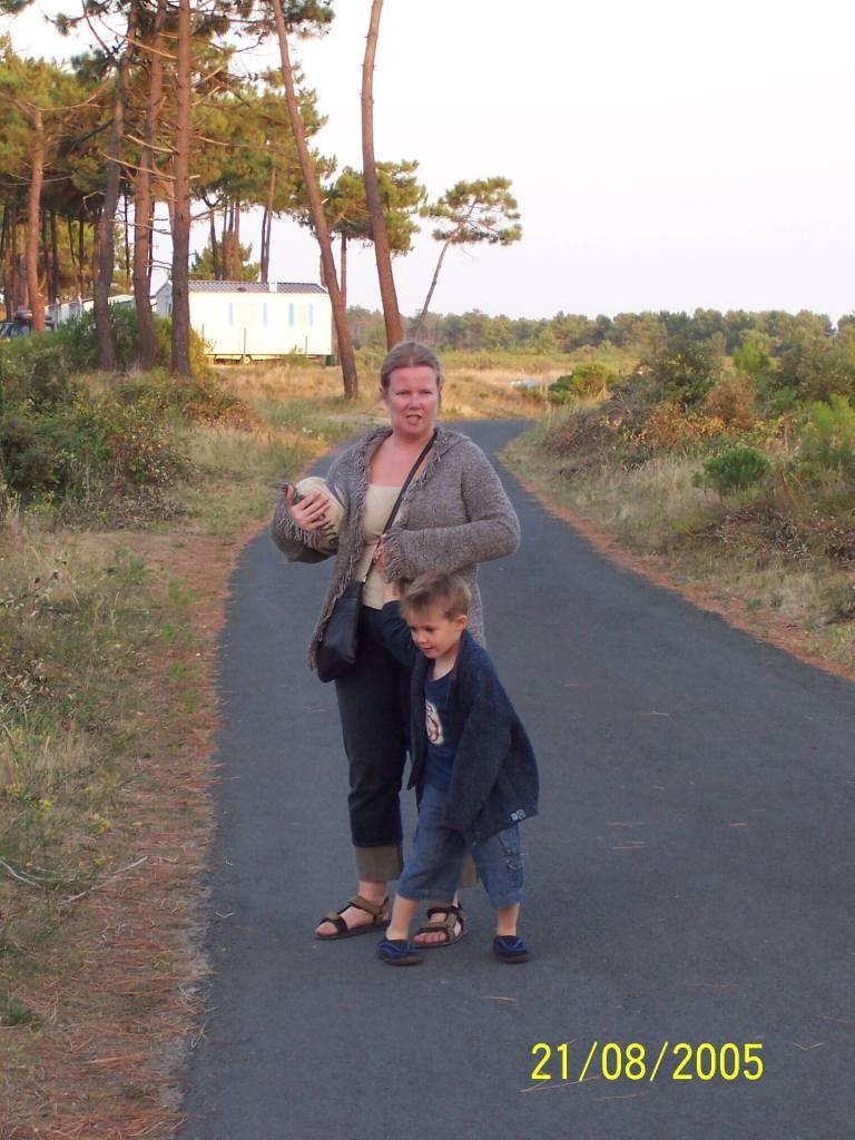 Bonne Anse Plage - mother & son