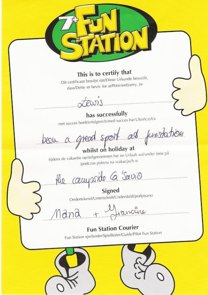 Ca' Savio - 7+ kids club award