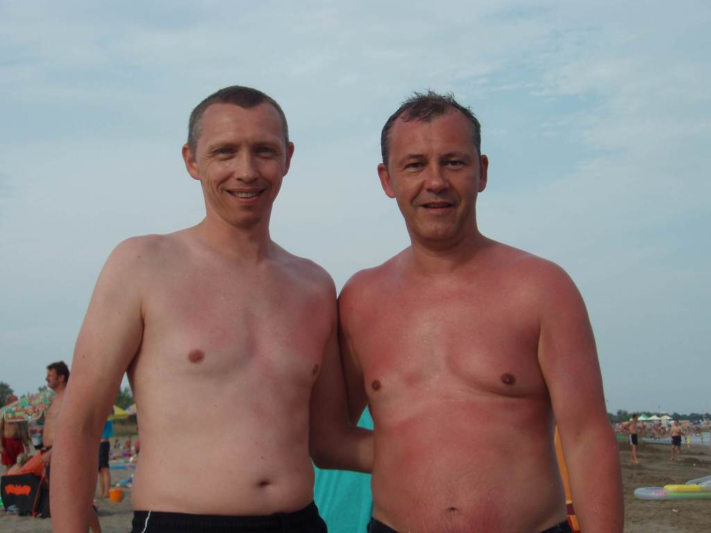 two brothers on holiday in Italy