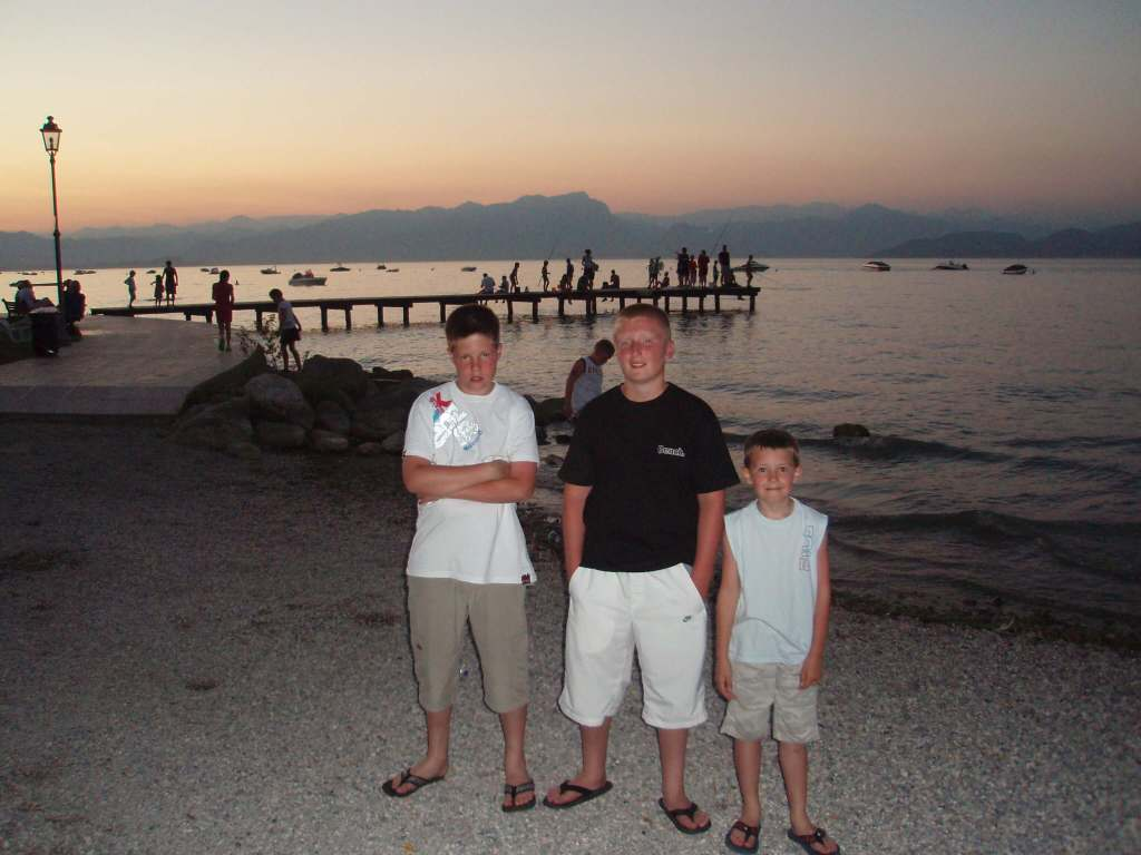 3 boys at Lake Garda