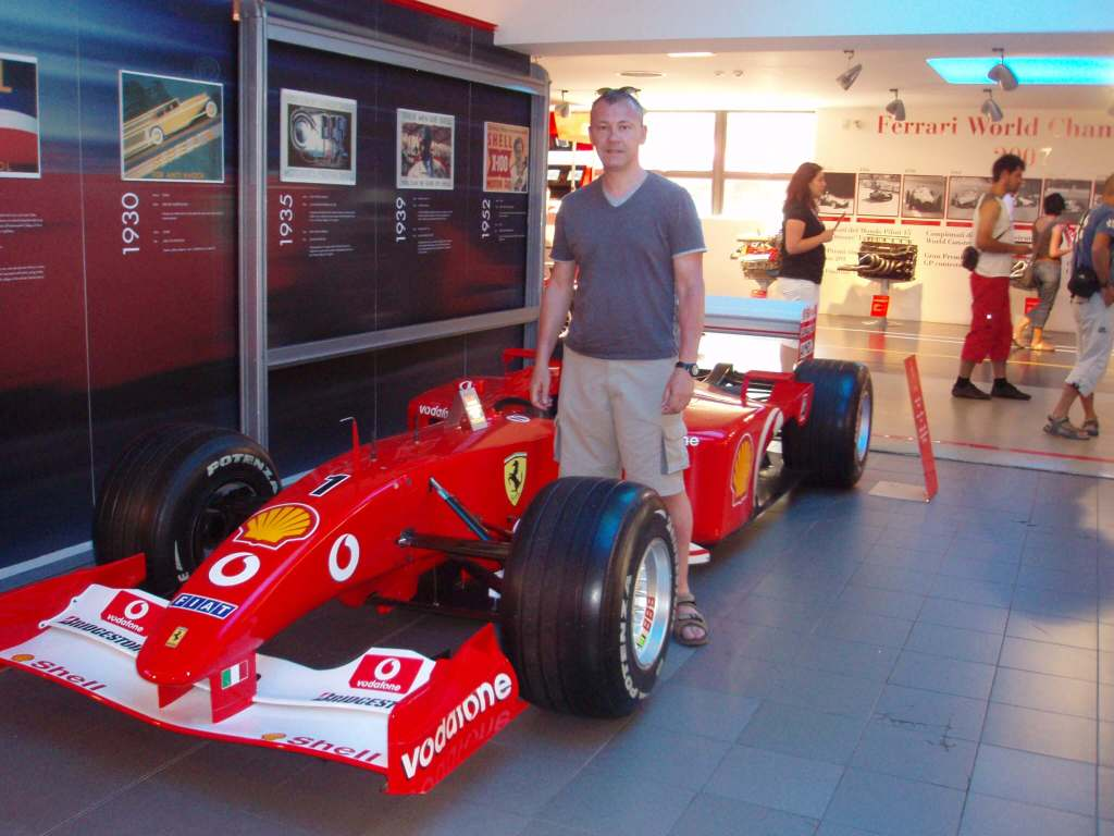 Ferrari F1 car & a man