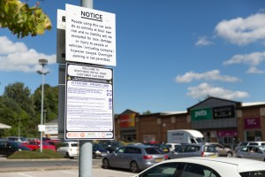 photo of a UKCPS parking warning