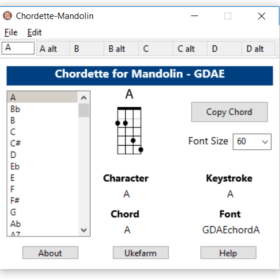 Create a Mandolin Chord Chart with Chordette