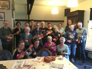 workshop ukelele groepsfoto