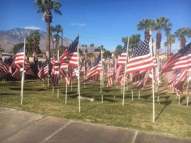 6,000 Flags Comprise 'Healing Field' in Cathedral City