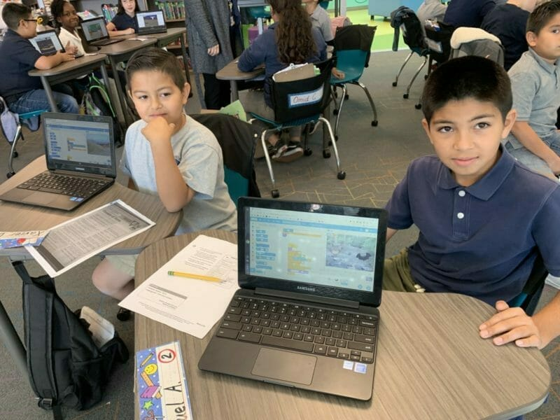 Oliphant Elementary Pupils Immersed in Coding