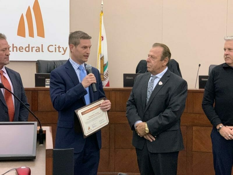 Parman Receives Special Mayor's Recognition