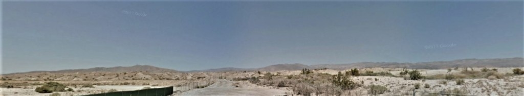 The East Indio Hills sit in the distance from the trailhead.